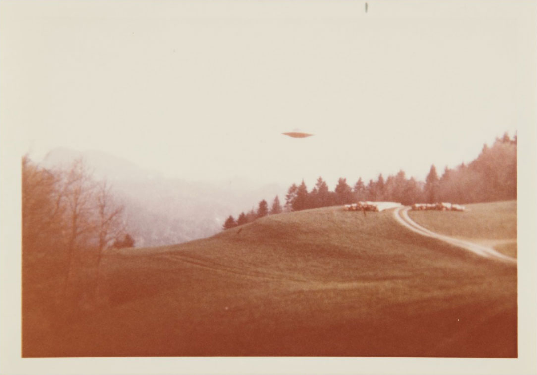 "This 1975 UFO sighting photographed by ""Billy"" Eduard Albert Meier was made famous as the ""I Want to Believe"" poster in X-Files"