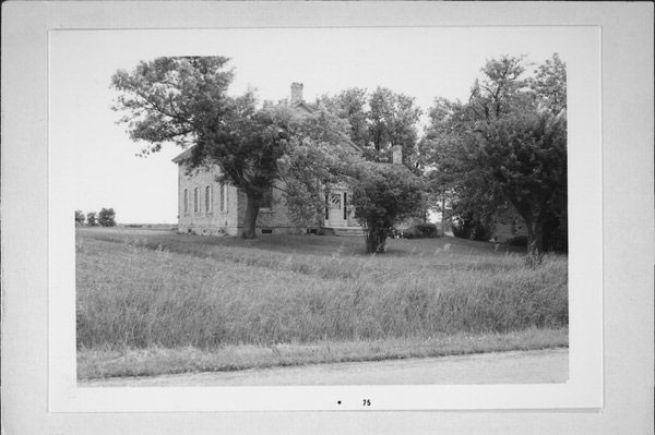 Historical photo of the house where presidential assassin Charles Guiteau grew up in Wisconsin