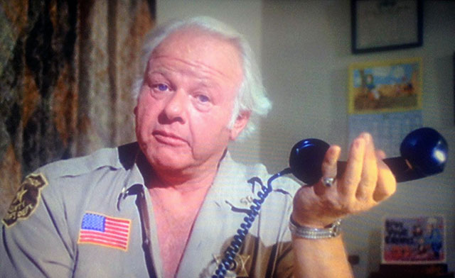 Alan Hale, Jr., the skipper from Gilligan's Island, is the sheriff in The Giant Spider Invasion