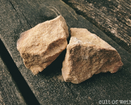 Rocks from the ruins of Aleister Crowley's Boleskine House