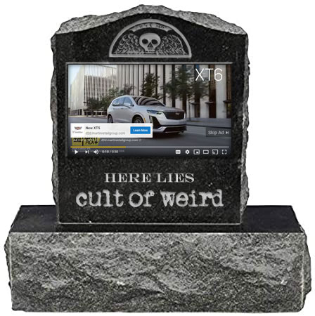 Cult of Weird video gravestone
