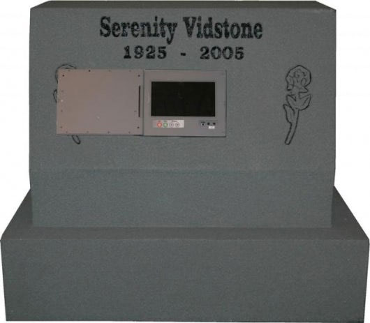 Headstones with videos of the deceased could be the grave of the future