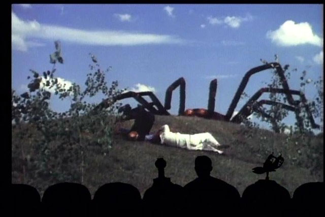 Mystery Science Theater 3000 riff on The Giant Spider Invasion