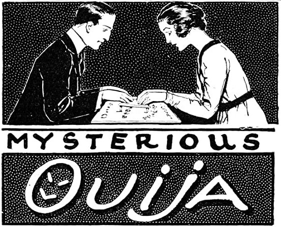 Vintage ouija board ad