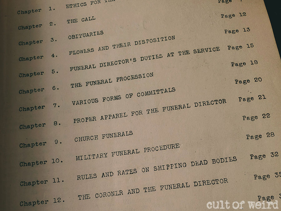 Vintage mortuary administration handbook from 1940