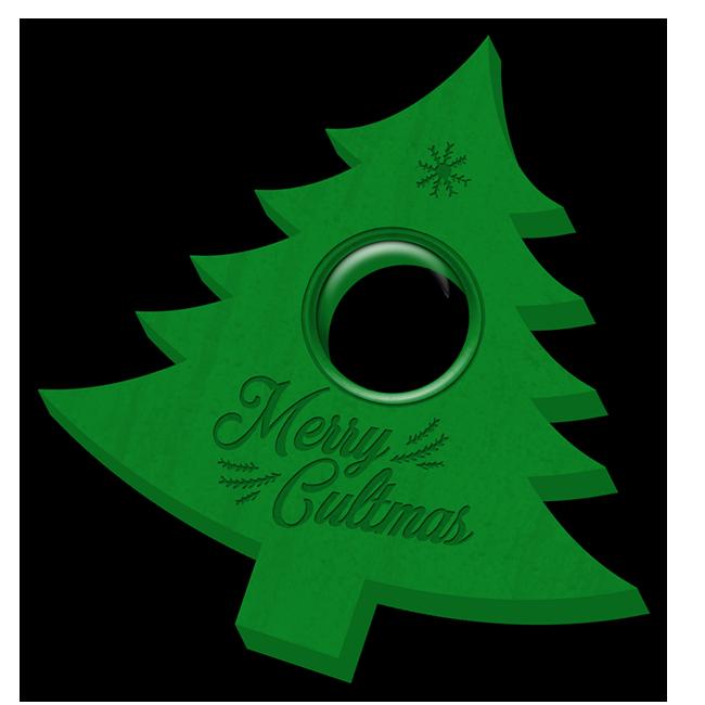 Ouija board planchette for summoning the Christmas spirit
