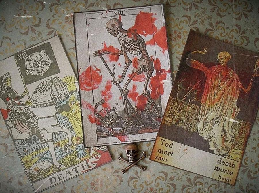 Death tarot card stickers