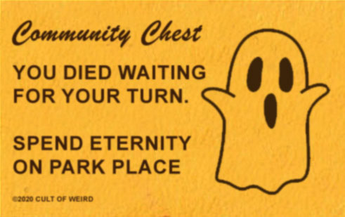 Haunted Monopoly card