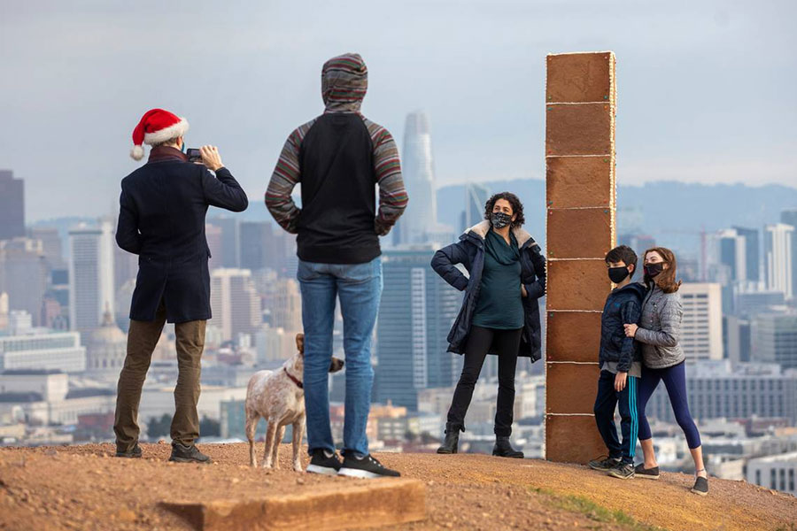 A gingerbread monolith mysteriously appeared in San Francisco on Christmas morning