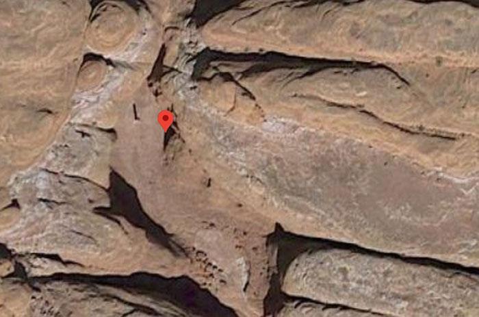 Utah Monolith location on Google Maps