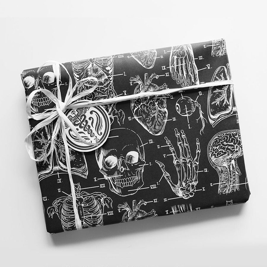 Vintage anatomy wrapping paper