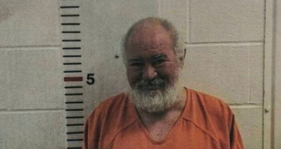 Mugshot of Bob Lee Allen, Oklahoma cannibal who eats the testicles of his castration victims