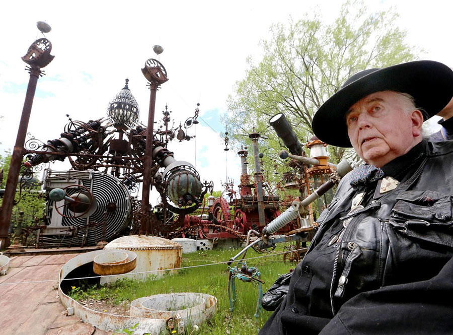 Dr. Evermor, creator of the Forevertron in Wisconsin
