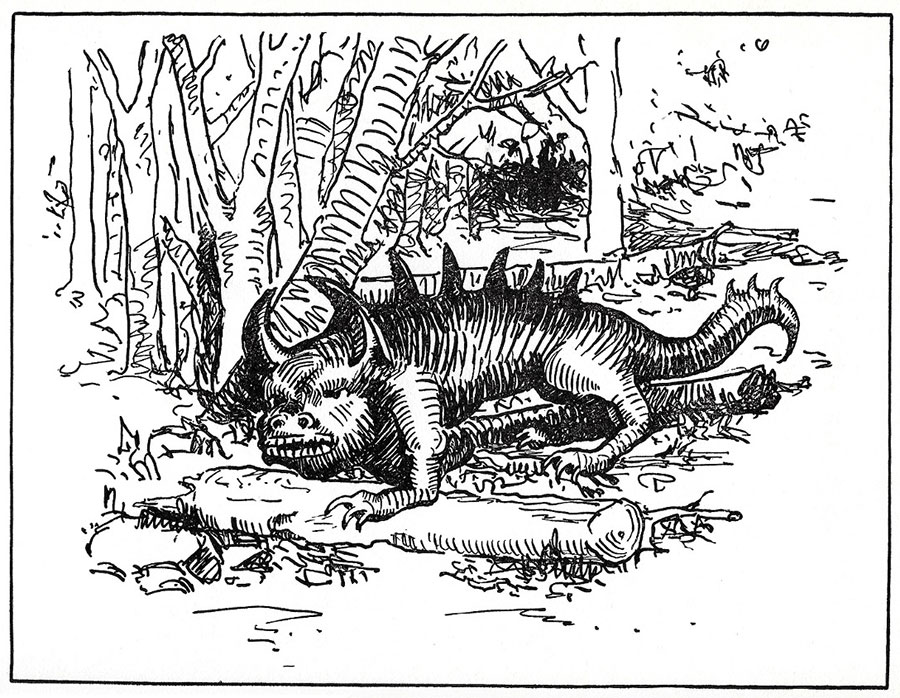 Illustration of a hodag by Margaret Ramsay Tryon, 1939