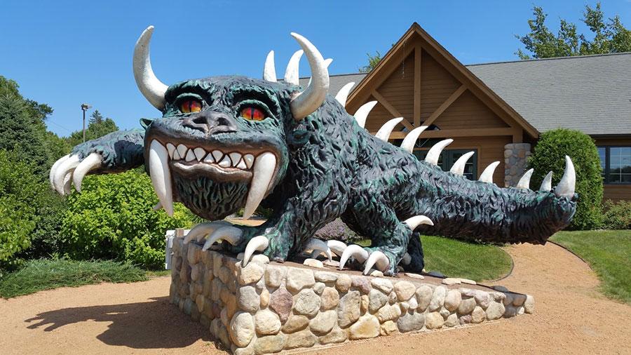 Hodag statue in Rhinelander, Wisconsin