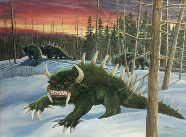Hodag painting by Rodd Umlauf
