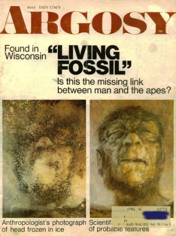 Minnesota Iceman on the cover of Argosy magazine, May 1969