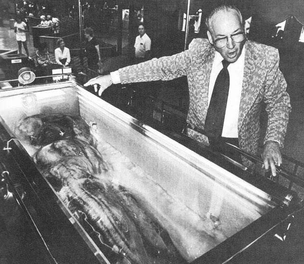 The Minnesota Iceman with caretaker Frank Hansen