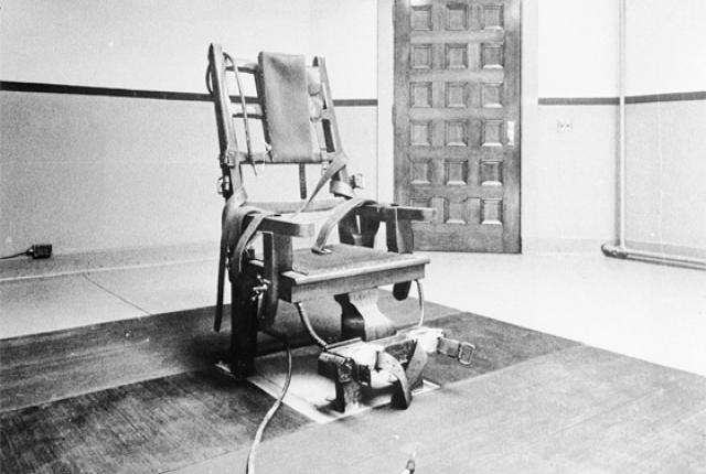 """""""Old Sparky"""" electric chair at Sing Sing"""