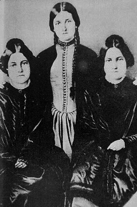 The Fox sisters who are credited with the beginning of Spiritualism in Hydesville, New York