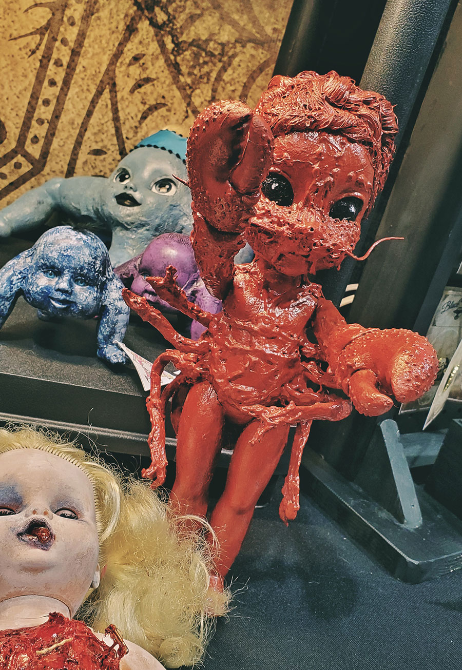 Lobster girl doll from Amy's Abominations