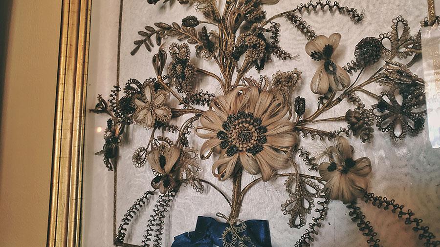 Victorian hairwork mourning art